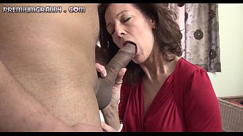 thin mature sweetheart sits her puss on an.