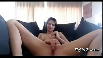 wondrous slut touches her beaver at.