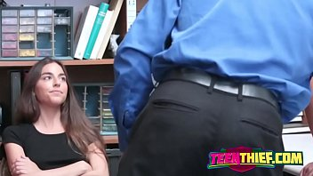 cock-wringing teenie duo take a plumb in the office