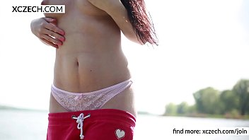 Daphne Angel public striptease and pussy showing - solo video - XCZECH.com