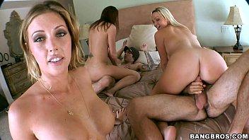 pornographic starlets pick up random men.