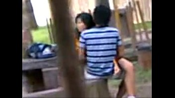 indian school students ravaging in public park spycam.