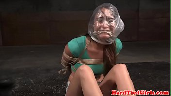 bound gimp flagellated in interracial duo