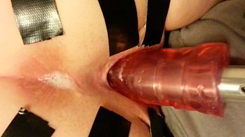 sawzall faux penis on the wife039_s taped open cooter