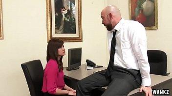 wankz- cool office assistant pokes her.