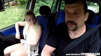 ultra-cute silver-blonde nubile gets driveracute_s lesson