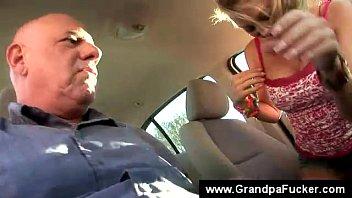 teenager dares grandfather to taste labia.