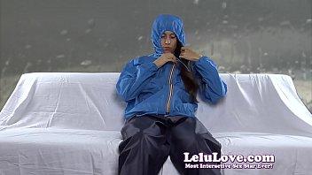 jerking in my windbreaker rain gear while conversing.