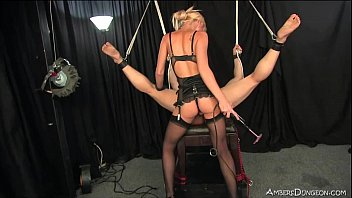 puny ash-blonde domme uses gimp for.