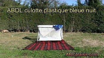 abdl culotte plastique bleue nuit