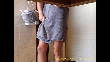 snooping cool nineteen year senior damsel showering in.