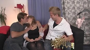SelfShotties.com - Both Sons Giving Their Huge Dicks To Real Mother Taboo Sex