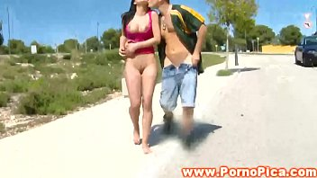 tetas chica outdoors in public pounded.
