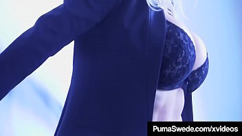 buxom blondie sweetheart puma swede ravage stick nails.