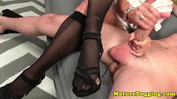 gigantic-titted cougar jerking rigid-on until it.