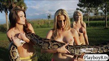 supah-sexy good-sized jugs stunners visited harmful crocodiles in nude