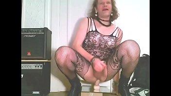 heelboy sissy railing faux penis