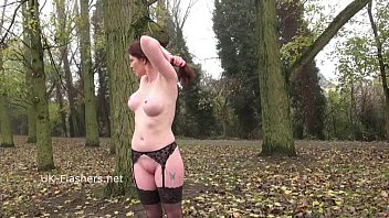 ginger-haired holly smooch flashing in public and outdoor.