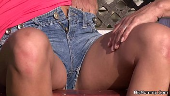 he finds his senior mother playing youthfull poon outdoor