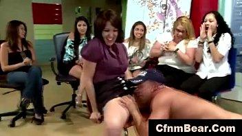 cfnm stripper tonguing inexperienced vagina at.