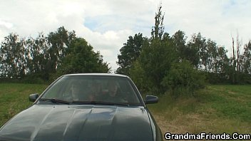 grannie and men nubile outdoor threeway