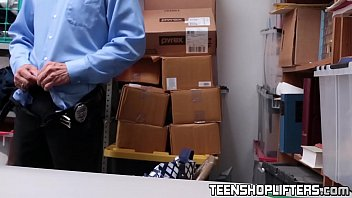 teenage stupid penalized in detectives office.