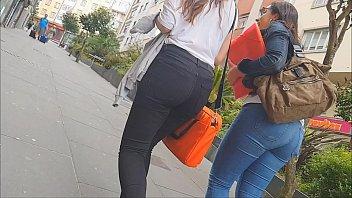 teenage culo jeans street youthfull dame ambling candid.