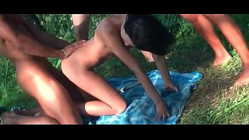 xxx group screw outdoor for a teenager brown-haired dame