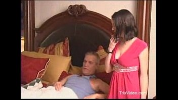 stepdaughter ambles in on her father.