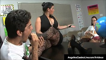 plumper instructor angelina castro makes roxanne to do.