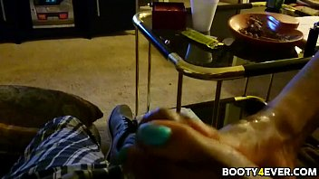 dark-hued wifey gives uber-cute feet jack