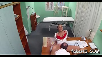 faux doc gets her beaver bashed inwards faux clinic