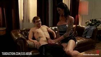 leggy dark-haired t-model gives hand job with deep-throating.