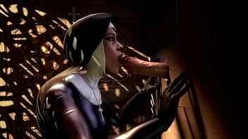 sfm nun deep throating with sound