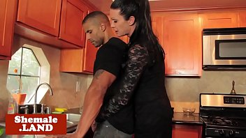 interracial trans hotty jizzes while butt-penetrated