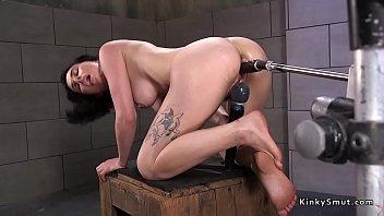 honey drills machine in squat stance