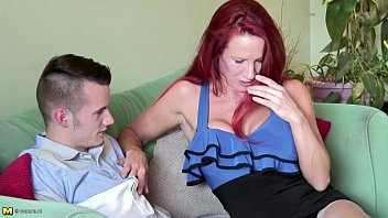 good-sized-boobed ginger-haired cougar on a 18yr.