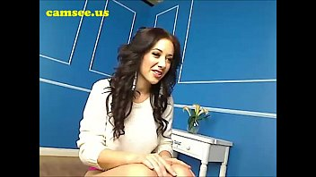 buxom brown-haired jerking on cam at.