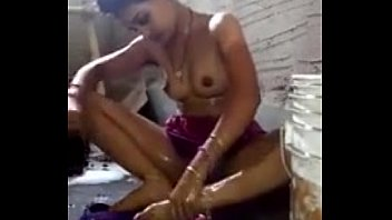 desi bhabi bathing conversing to devar