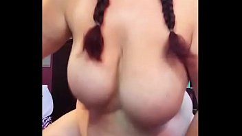 chunky cougar with monstrous jugs plowing her faux penis