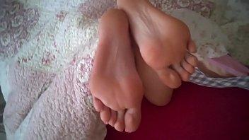 spunk on beautiful feet my gf