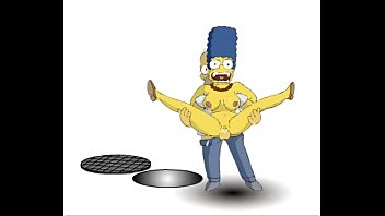 the simpsons  homer and marge.