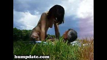 insane wifey rails her husband outdoor