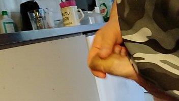 hard jism-shotgun sperma pull out after holding it.