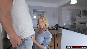 blond cougar step-mother wants a stepsons jizz in.