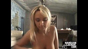 blond unexperienced gigantic melon hand-job