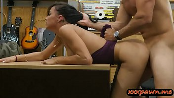 cool unexperienced brown-haired girl gets pounded at the pawnshop
