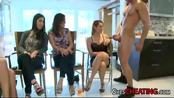 henparty with monstrous-trunk masculine-strippers