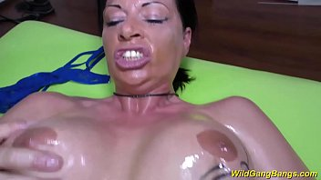 meaty-boobed german cougar gets lubricated and.