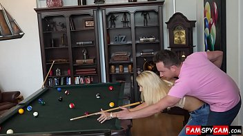 supah-hot mother and sonny fuckfest on a pool table